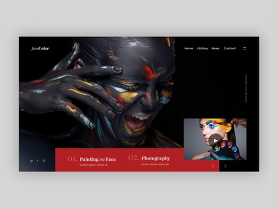 Makeup & Photography face makeup photography dark minimal modern clean creative web design ux ui