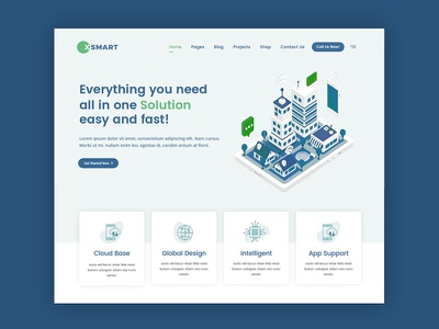 Smart Home WordPress Theme illustration isometric smart home saas minimal modern clean creative web design ux ui