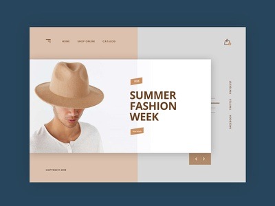 Summer Fashion Week shop fashion concept minimal modern clean creative web design ux ui