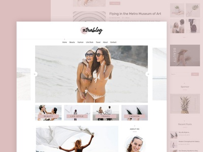 Personal Blog WordPress Theme lgiht clean modern minimal ux ui theme web wordpress personal blog