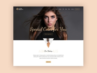 Beauty Salon WordPress Theme beautiful girl girl makeup beauty salon web website template uidesign ux ui theme wordpress beauty