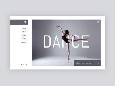 Dance School Website Concept + Free PSD freebie design freepsd free template modern creative web deisgn photographer clean minimal photo photography webdeisgn web ux ui dance