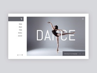 Dance School Website Concept + Free PSD