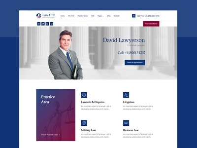 Lawyer & Attorney WordPress Theme wordpress template modern design theme web  design ux ui political legal attorney law office law firm lawyers lawyer