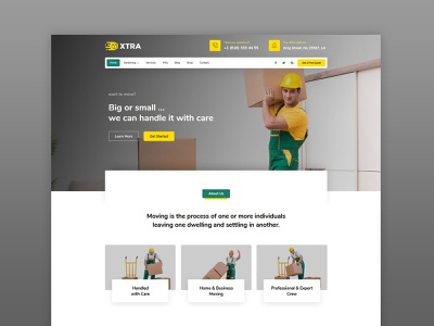 Moving Company WordPress Theme packers and movers packer box packing cargo transportation logistic moving clean template business wordpress modern creative web design theme ux ui