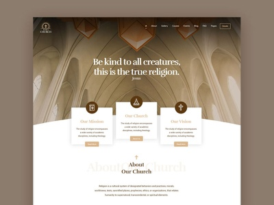 Church WordPress Theme minimal wordpress modern creative clean design web theme ux ui
