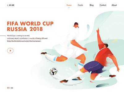 2018 FIFA World Cup people football orange red dynamic color web sportsmanship player fifa