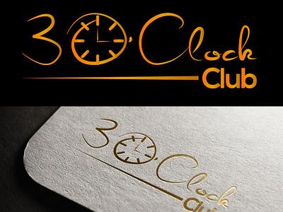 3 O Clock club logo website illustration mobile design logo character lettering minimal vector typography illustrator icon identity brand app