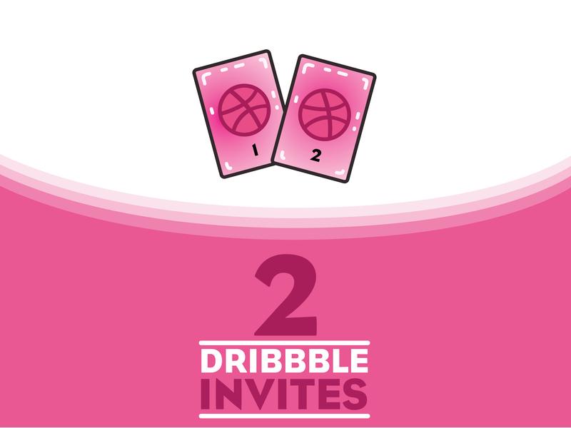 Dribbble invites giveaway vector typography ui ux illustration design
