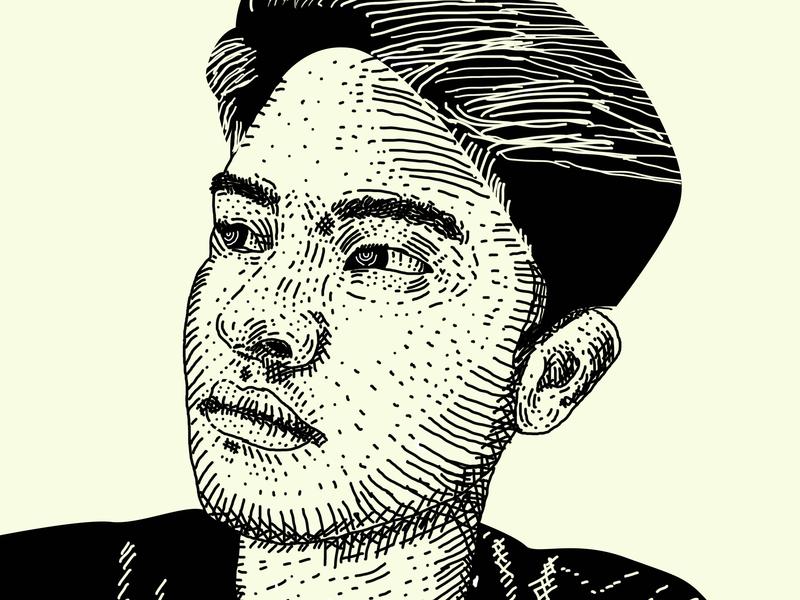 face engraving vintage old style design line art illustration hedcut portrait art engraving