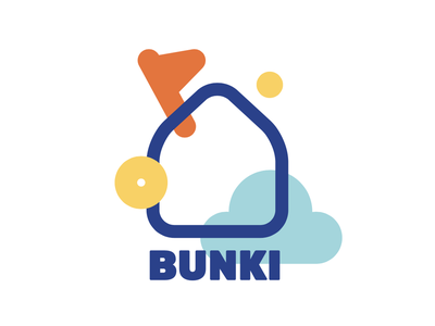BUNKI logo icon playful childlike vector