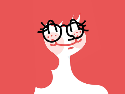 Tuetyi myself glasses smiling illustration figurative self portrait