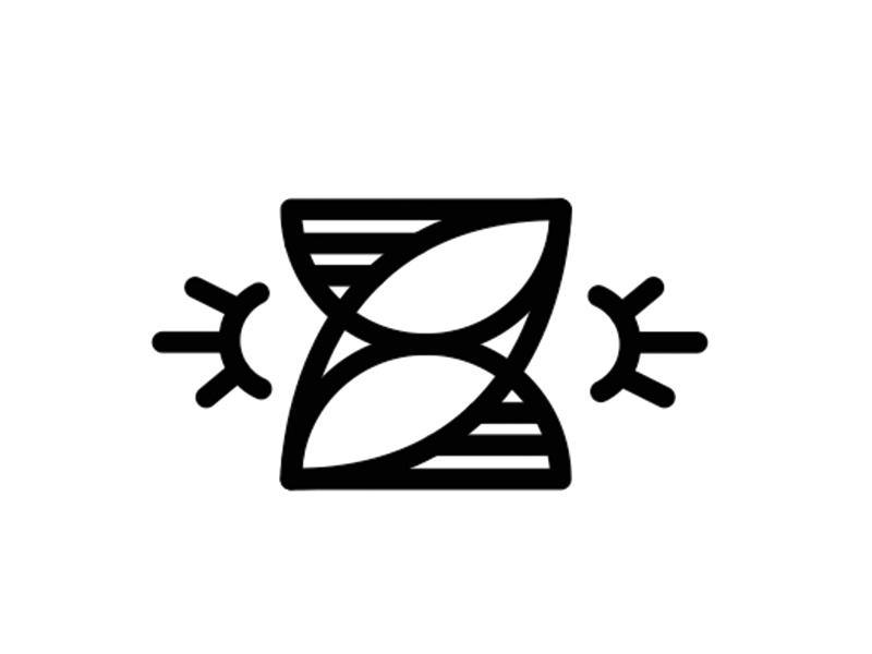 Z line lineart fat lettering z letter