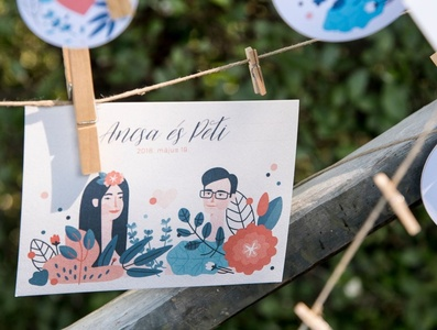 Wedding card for Ancsa and Peti