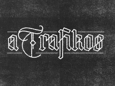 a Trafikos letter vector gothic lettering