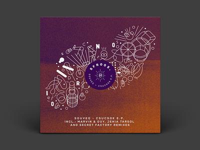 SFR005 branding and identity vinyl cover vinyl logo vector design