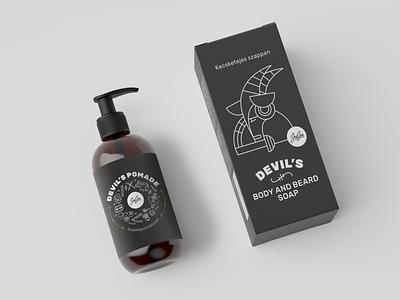 JuJu's packaging pomade branding logo bio black vector illustration illustration vector art packaging design soap cosmetics packaging