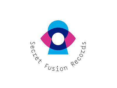 Secret Fusion Records - concept illustration icon design fusion secret icon letter vector logo