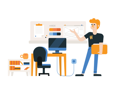 Web Studio 01 webdesign vector figurative illustration