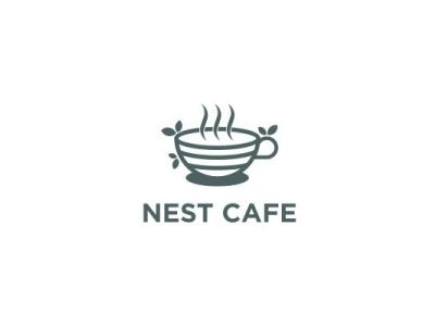 Nest Caffee mountain bird table hot healthy egg coffee bean drink breakfast restaurant nest coffee cafe logoforsale logoidea logos logoinspire logoconcept logoinspiration logodesign