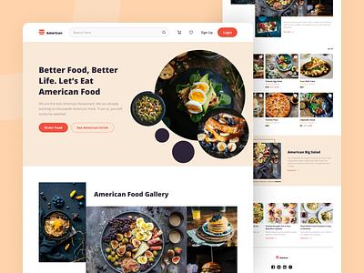 American Resto | Online Shop UI Kit website webdesign ui kit food app food web food app clean ui ux ux ui