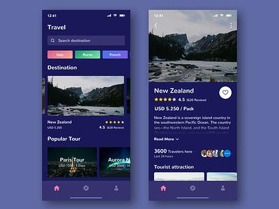 Travel App app ios destination iphone x ui ux ux ui clean dark dark app travel app