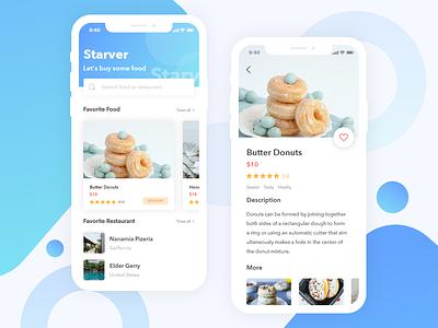 Food Delivery App simple ui ui ux ux app iphone x ios food blue clean ui