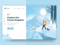 Winter Tour Exploration Landing Page