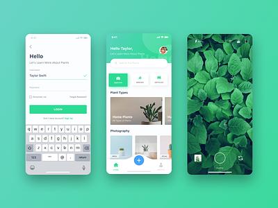 Plant App clean simple ui ux iphone x ios app ui  ux ui