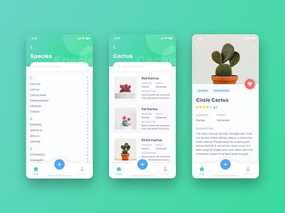 Plant App app design simple ui ios clean iphone x app ux ui ux ui