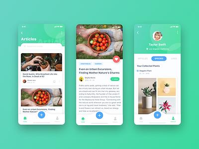 Plant App iphone 10 app design design simple ui ios clean iphone x app ux ui ux ui