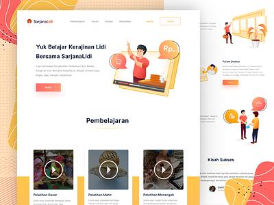 SarjanaLidi Website website concept illustration pattern website design web website clean ux ui ux ui