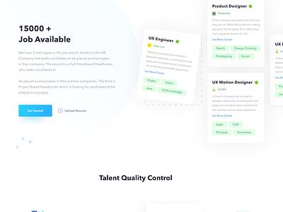 Hello Job - Job Website landing page website ui design clean job website job webdesign web uiux ui