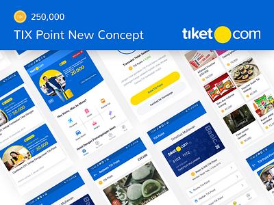 TIX Point New Concept - Exploration research case study app ui ux clean ux ui