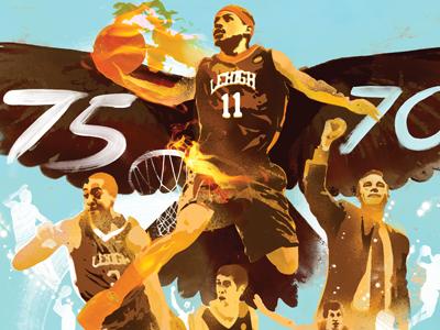 Lehigh University Basketball Sport Illustration Nba Danny Alliso