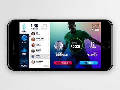 Sks Followers ux ui soccer product iphone ios game futbol design app