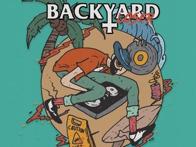 Backyard - Awas lantai licin