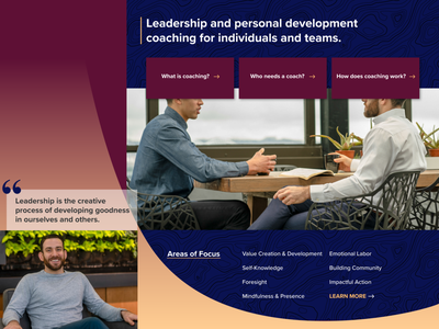 Leadership Coach Personal Brand Identity interface design brand and identity personal development coaching web design personal branding personal brand graphic design site design brand identity ux ui
