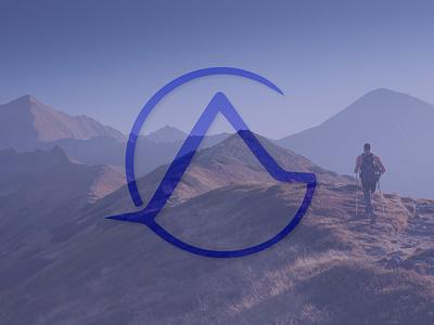 Landscape Initials Logo   AG monogram logo brand identity mountain lettermark ag logo graphic design initials logo initials logo design logo