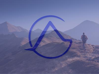 Landscape Initials Logo | AG monogram logo brand identity mountain lettermark ag logo graphic design initials logo initials logo design logo