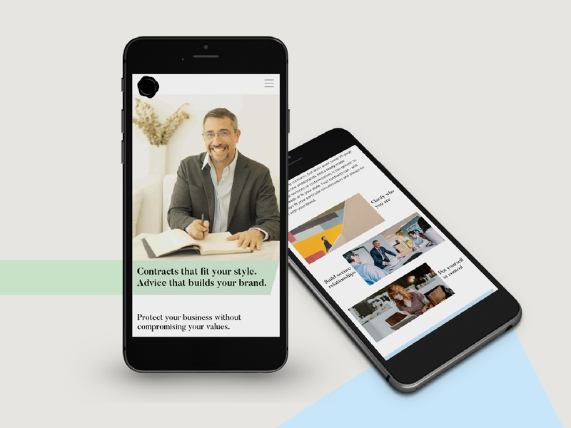 Legal Consultant Mobile Site creative strategy personal branding ui ux clean geometry mobile layout personal brand lawyer consultant mobile design