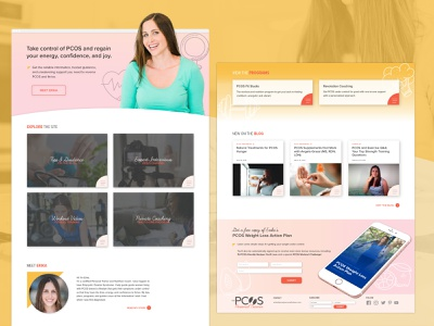PCOS Personal Trainer Website pcos creative strategy personal branding nutritionist ui ux brand identity site design personal trainer fitness coach health coach womens health fitness exercise