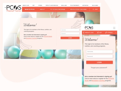 Login Page | Women's Fitness & Health Coaching members area ux ui site design login page login area login health coach personal training womens health health fitness