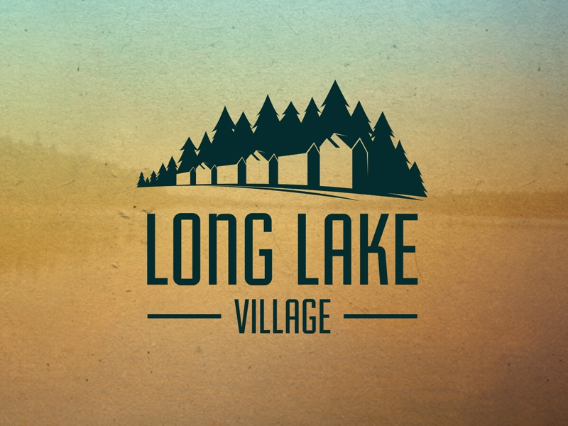New Development Logo - Concept 1 logo illustration house lake trees branding community outdoors