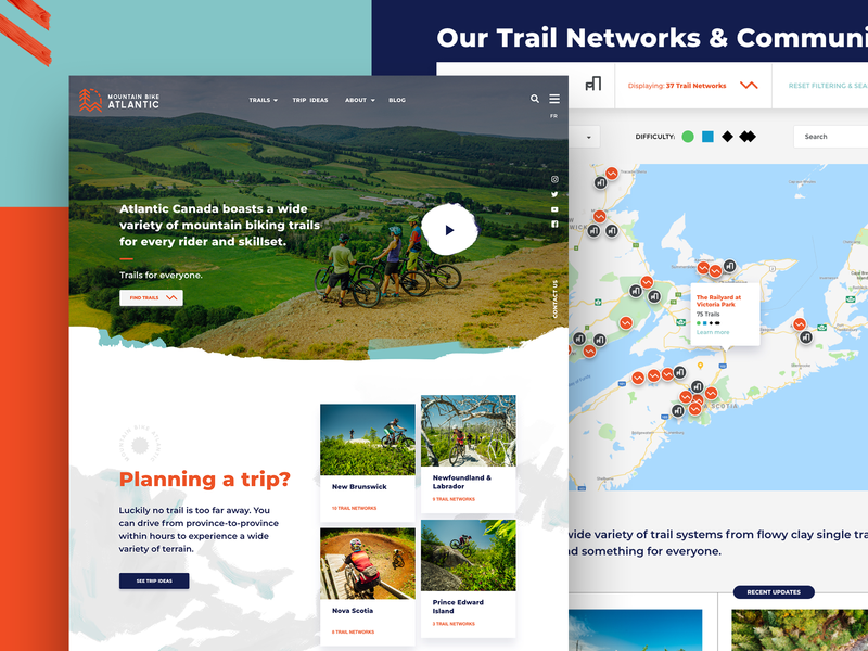 Mountain Bike Atlantic Website Design