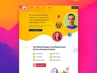 WP Buffs Website Design web texture wordpress madewithxd illustration icon logo ui web design branding