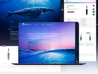 Ocean Sonics Website Design sound marine technology ocean web ux wordpress design madewithxd ui web design branding