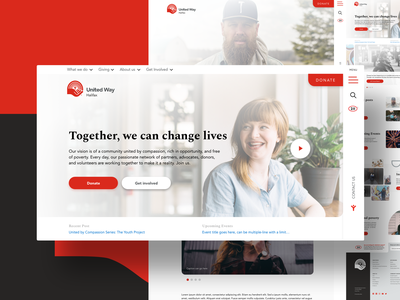 United Way Halifax Website Design non profit give user experience user interface donate non-profit organization united way non-profit web wordpress madewithxd ux ui web design