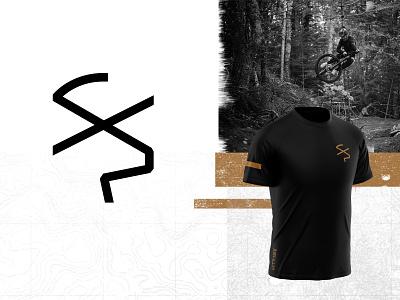 Let'r Buck - Simple envelope letter buck deer mountain biking mtb illustration logo branding