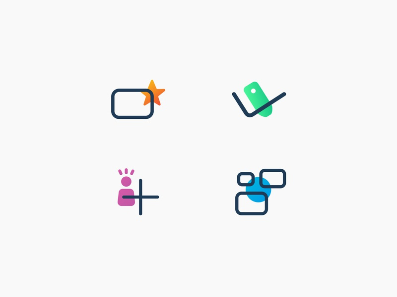 ScreenScape Icons branding icons tech website icons feature icons gradient lineart web vector madewithxd icon ui web design